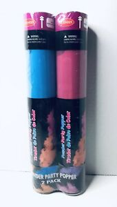 Gender Reveal 2 Pack Powder Party Popper Cannon Pink Blue Goodmark Baby 12 In