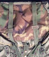 Genuine U.S. Military Med Alice Pack OD Green Camo LID + Shoulder Straps + Knife