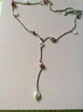 NEU**Original Pandora Kette  Rarität  Sterlingsilber mit Perle/ Kristalle 65cm.