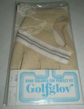 NOS Women's Golfglov Golf Glove Genuine Leather Ivory Color