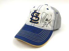St. Louis Cardinals 9/21/15 SGA Blues Theme Night Hat Cap Signed Autographed