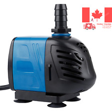 Pawfly 400 GPH Submersible Inline Water Pump with 6 Cord for Pond Pool Founta...