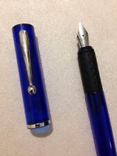 SHEAFFER CALLIGRAPHY TRANSPARENT BLUE CT MEDIUM ITALIC FOUNTAIN PEN-USA.