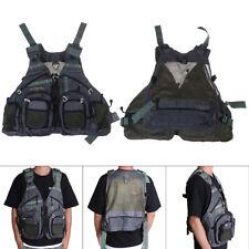 Fly Fishing Vest Pack For Men Adjustable Size Breathable Mutil-Pocket Vest ZB