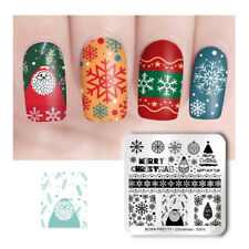 BORN PRETTY Nail Art Stamping Plate Square Nail Stamp Tools Christmas Series