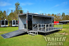 NEW 8.5 X 24 Enclosed Portable Stage / Riser Mobile Performance Platform Trailer