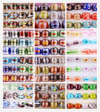 Wholesale Mix 156X 13Style Helix Summer Style Charms Gold Dust Murano Glass Ring