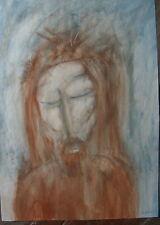 ::CHRISTUS MIT DORNENKRONE °PASTELL SIGNIERT BALDT / BULDT ? MODERN ART 56x40cm