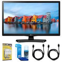 "LG 24LH4830-PU 24"" Smart LED TV (2017 Model) w/ Accessories Bundle"