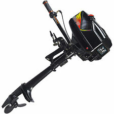 2 Stroke 3.6HP Heavy Duty Outboard Motor Boat Engine w/ Water Cooling CDI System