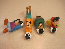 Burger King 1992 Disney's Goof Troop Bowlers - Complete Set - Loose