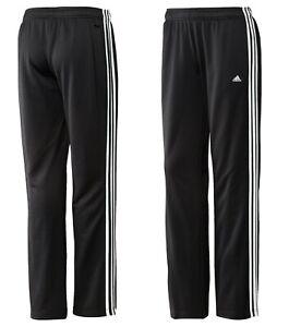 Adidas Jogginghose Damen Mädchen Schwarz 3-Streifen Trainingshose Pant