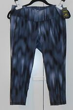 """WOMEN'S OLD NAVY ACTIVE GRAY HORIZON GO-DRY COMPRESSION CROPS (20"""")/SIZE LARGE"""