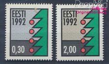 Estland 195y-196y floureszierendes Papier postfrisch 1992 Weihnachten (8470470