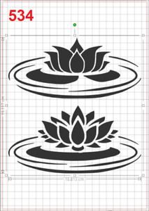 Water Lily Pad Lotus Stencil MYLAR A4 sheet strong reusable Wall Art Craft Deco