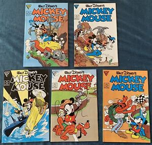 5 Issues Of Mickey Mouse: #234-238  Walt Disney Lot #4