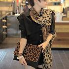 1Pc Women Chic Long Shawl Silk scarf Wrap Lady Leopard Pattern Scarfs Chiffon