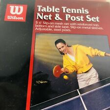 Table Tennis Net & Post Set Wilson NEW in PACKAGE Replacement