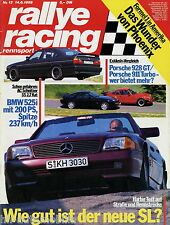 Rallye Racing 13/89 1989 Schnitzer S5 500 SL 911 Turbo 928 GT Carina Postert XJR