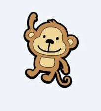 """Set of  6 Monkeys Die Cuts 6"""" H Scrapbooking, Party Decorations"""