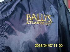 NWT Bally's Casino Atlantic City Men's L Windbreaker navy  with attached hood
