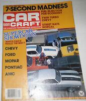 Car Craft Magazine Supercar Showdown & Fuel Injection September 1981 080514R