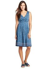 Womens Printed Pleat Skirt Dress - 14-16 - BLUE Lands End UHTkC