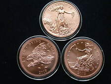 3 Zombucks Copper Round 3 x 1 Oz Kupfer The Saint, Slayed Dollar, Dying Eagle