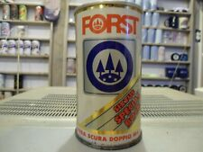 """Scarce """" Straight Steel Red Bottom Banner """" Forst Bock Beer Can Italy"""