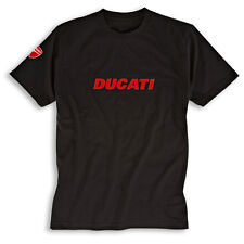 Ducati T-Shirt Ducatiana 2 Black Logo Shirt Men's New + Original