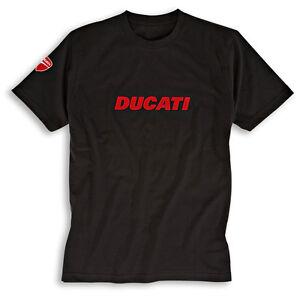 Ducati T-Shirt Ducatiana 2 Black Logo Shirt Men's New + Original