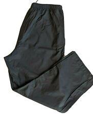 Cabela's Men's Xl Black Nylon Waterproof Snap Cuffs Rain Hiking  Fishing Pants