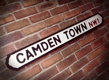 Camden Town Old Wood London Vintage Street Sign Market Lock Chalk Farm Road Sign