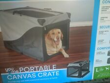 Portable Canvas dog crate Lightly used Clean