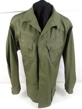 Vietnam Era US Army/USMC Rip-Stop OG-107 Combat Coat Shirt Lg/Long 1968 Unissued