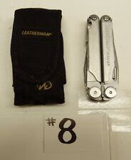LEATHERMAN WAVE ONE LINE FOLDING MULTI TOOL KNIFE & NYLON SHEATH CASE B18#8