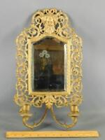 ANTIQUE ORNATE FIGURAL GREEK DIONYSUS BRONZE/BRASS CANDLE MIRROR WALL SCONCE