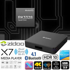 Zidoo X7 Android 7.1 RK3328 2G 8G Smart TV Box HDR HDMI Bluetooth USB 3.0 WiFi