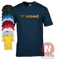 BOAC classic logo airline t-shirt brand new flight crew T-shirt airport