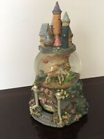 Rare Musical Snow Globe Castle and The Two Pegasus Revolving Inner Base Glass
