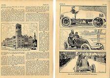 Automobilwettfahrt París-Madrid 1903 accidente-muerte de marcel Renault