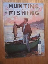 1934 Hunting And Fishing Magazine  July issue NRA Trout Fishing Scene on cover