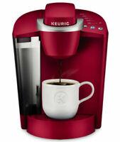 Keurig K-Classic K50 Coffee Maker, Single Serve K-Cup RED Brewer Rhubarb Refurb.