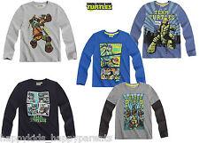 Boys NINJA TURTLES Long Sleeve CHARACTER TOP T- Shirt 5 6 7 8 9 10 11 12 Years