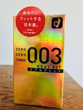 Okamoto 003 Zero Zero Three Real Fit Ultra Thin 0.03 mm Condom 10pcs(US Seller)
