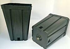 VASI PLASTICA QUADRATI cm  9x9x13 - ANTISPIRALIZZAZIONE, ITALIA - 10 VASI