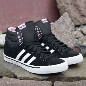 Adidas Park St Mid W Ladies Leather Sneaker Shoes Superstar Black/White/Pink