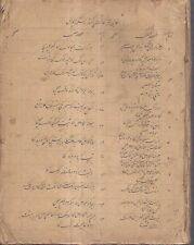 INDIA - OLD HAND WRITTEN HINDU RELIGION BOOK IN URDU - PAGES 244
