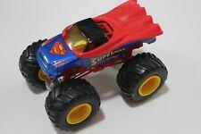 hot wheels monster jam truck dc superman yellow rims combine ship