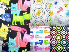 DOGS LOVE BONES  bright fun dog Fabric Pallette 100% cotton patchwork fabric
